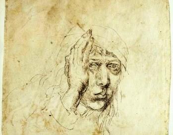 Albrecht Dürer önarckép 1484 ezüstvessző rajz