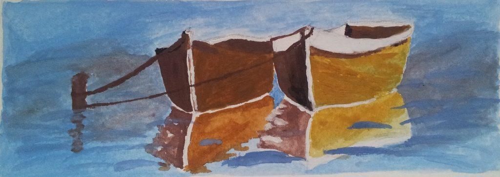 Csónakok - Gouache - 165x60 - 2013