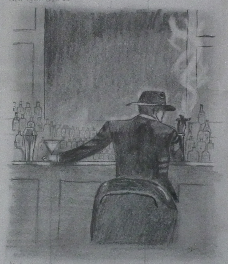 Cigar bar (Brent Lynch) - Ceruza - 150x180 - 2012