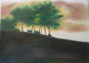Pad a fák alatt - Pasztell kréta - 500x400 - 2013