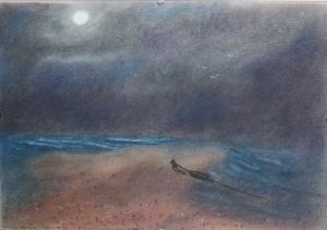 Indulás (Richard Cartwright) - Pasztell kréta - 297x210 - 2013