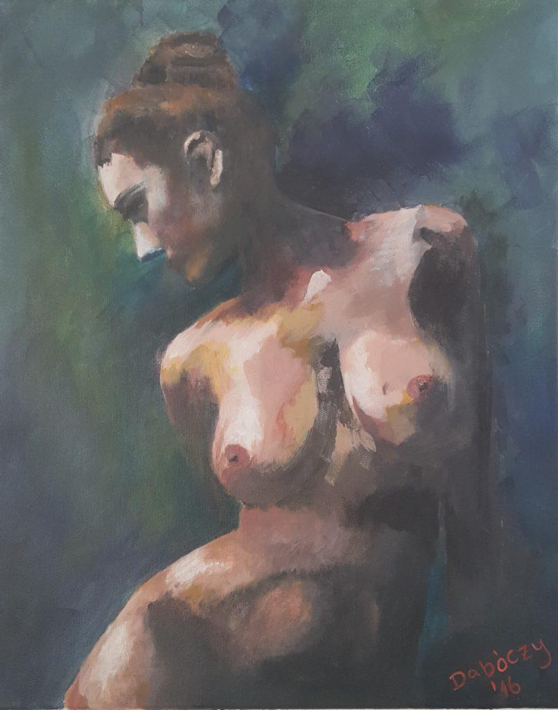 A Tél, női akt - Akril, vászon kereten - 50x40 - 2016
