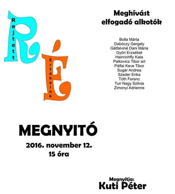 Rejtett értekeink csoportos kiállítás plakát