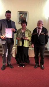 Sipos Marival és Drotleff Zoltánnal a díjkiosztón