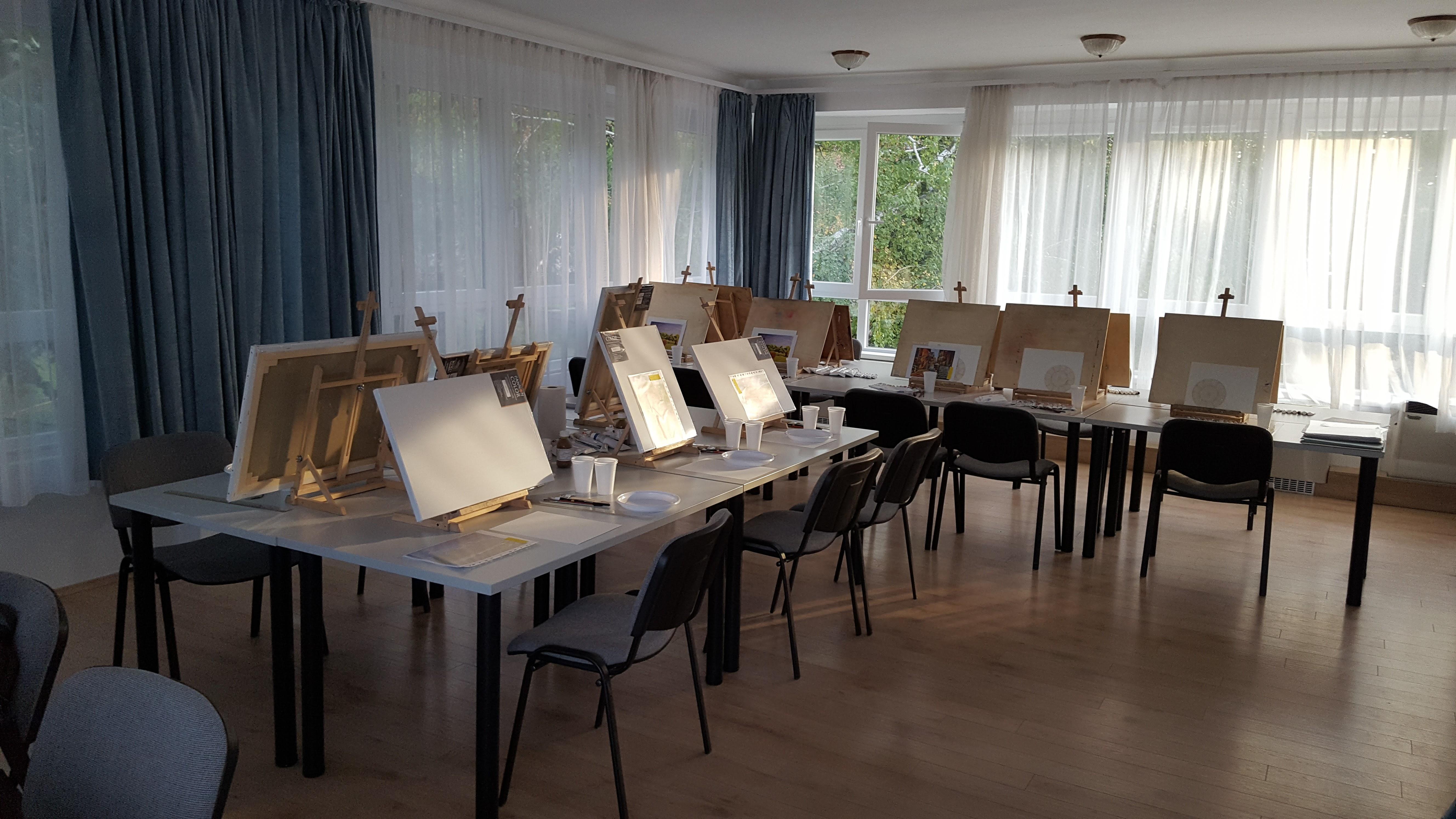 Műterem (egy érsze), Balatonföldvár, művésztábor, 2017