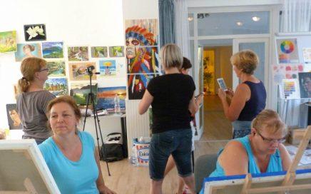 A művészek, művésztábor, Balatonföldvár, 2017