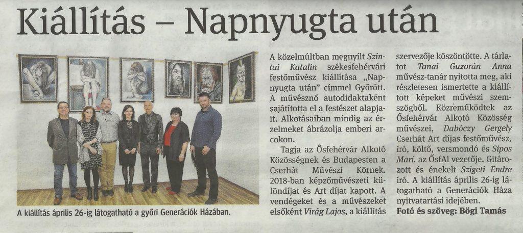 Szintai Kati tárlatmegnyitója Győrben