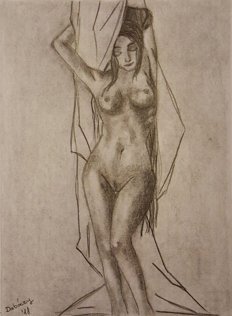 Grafikatól Festészetig - Vetkőző nő