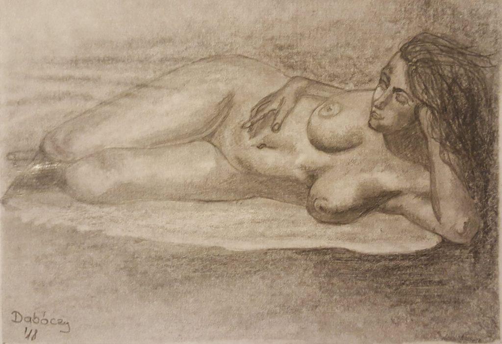 Grafikától Festészetig - Pihenő nő